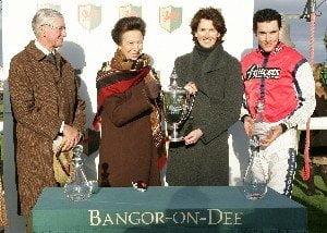 HRH The Princess Royal enjoys racing at Bangor