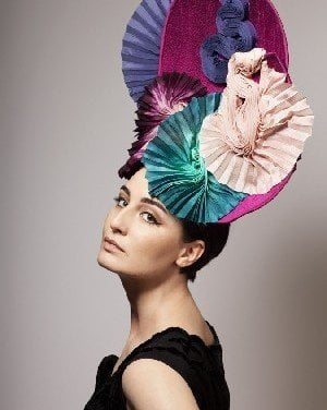 Erin models Derby hat from Mariette