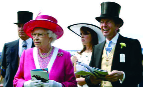 Her Majesty The Queen at Epsom Downs Racecourse