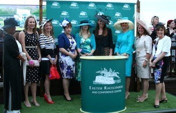 Huge crowd enjoys Exeter Racecourse's Ladies' Night