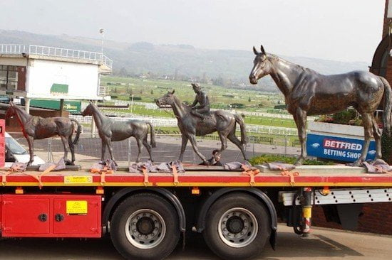 Cheltenham's historic statues sent packing!