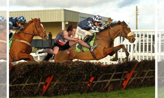 (Human) Hurdler Jack Houghton takes on (Horse) Irving ahead of Kingwell Hurdle at Wincanton