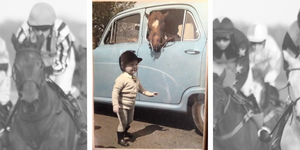 Trainer Nicky Hugo Racing off to a show with her pony in the car
