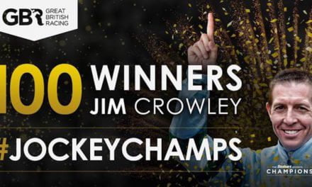 Jim Crowley's 100th winner of this year's Flat Jockeys' Championship takes him to top of leader board