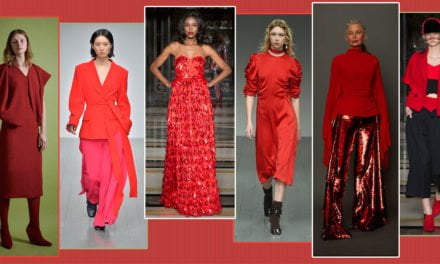 London Fashion Week Autumn/Winter 2018: Lady in Red