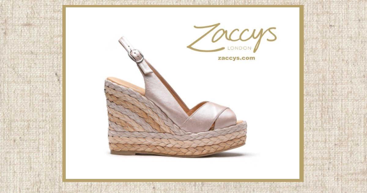WIN A PAIR OF HANDMADE LUXURY WEDGES FROM ZACCYS LONDON