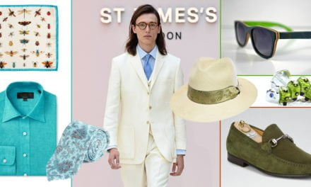 Men: Add a Pop of Colour to your Linen Suit Ensemble for Glorious Goodwood 2018