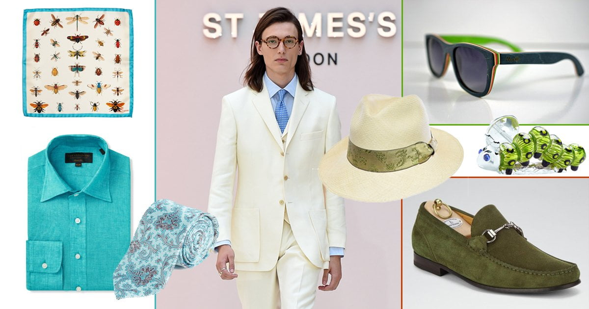 Men: Add a Pop of Colour to your Linen Suit Ensemble for Glorious Goodwood 2018