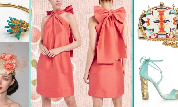 Eye-Catching in Coral at Chester's May Festival